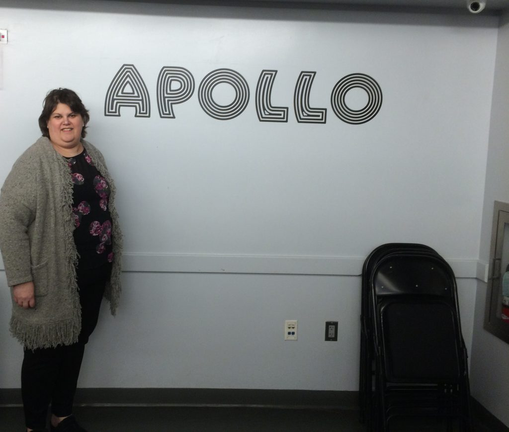 Backstage at the Apollo