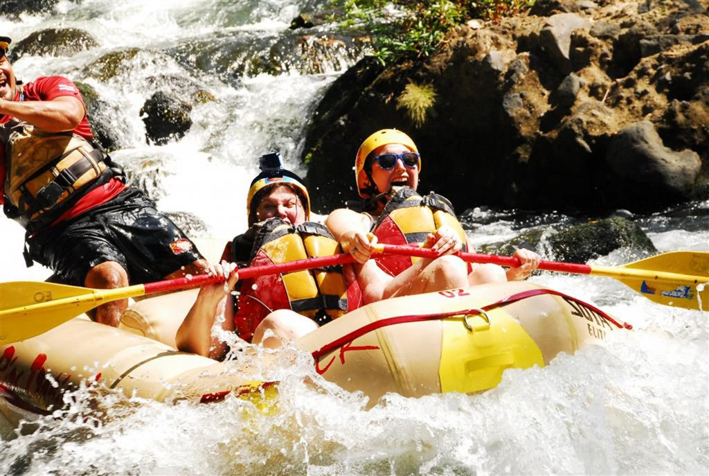 Rafting down the Sarapiquí River in Costa Rica