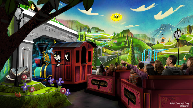 Artist Rendering of Mickey & Minnie' Runaway Railway Attraction