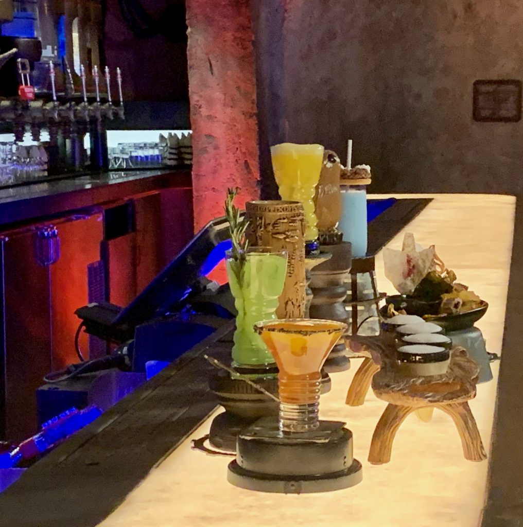 Drink selections at Oga's Cantina