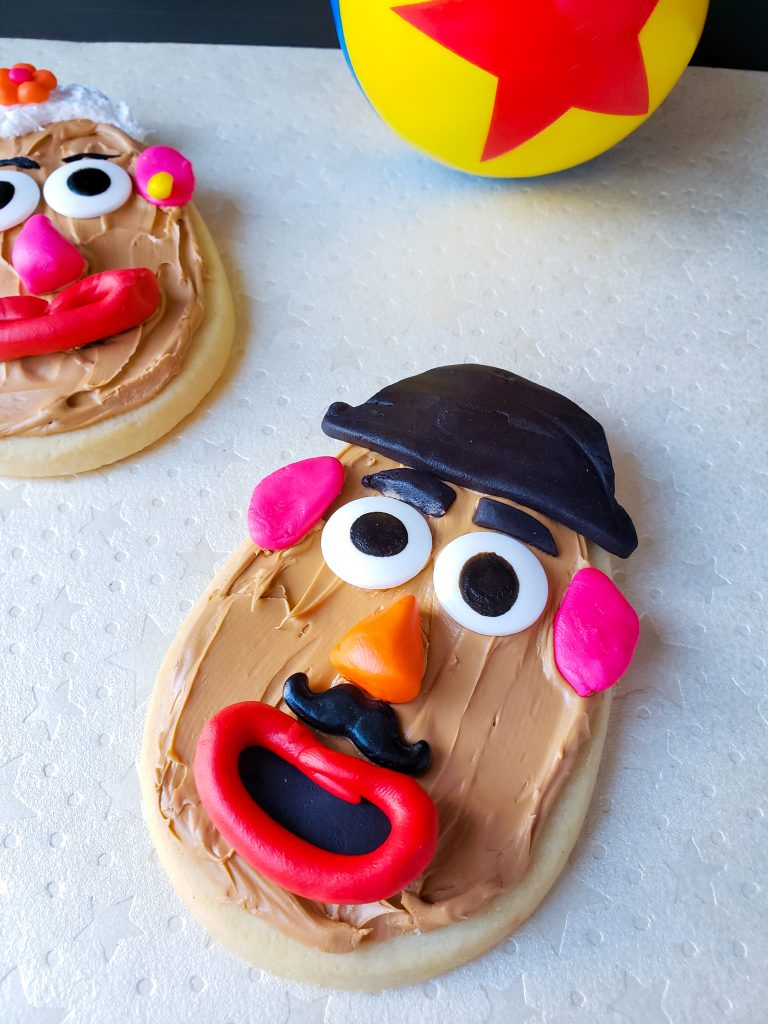 Mr. and Mrs Potato Head Cookie with Pixar Ball