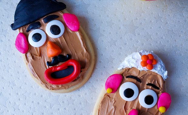 Mr. and Mrs Potato Head Cookie