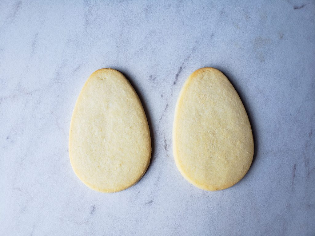 Oval cookie base for Mr. and Mrs Potato Head Cookie