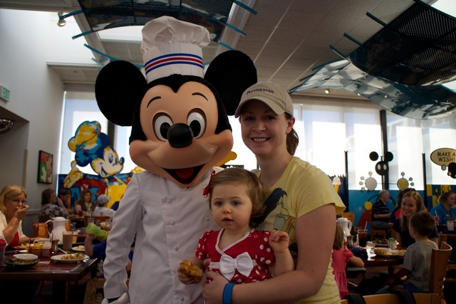 Chef Mickey with The Shirley Family (Retired outfit)