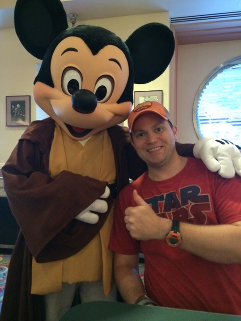 Jedi Mickey with The Shirley Family