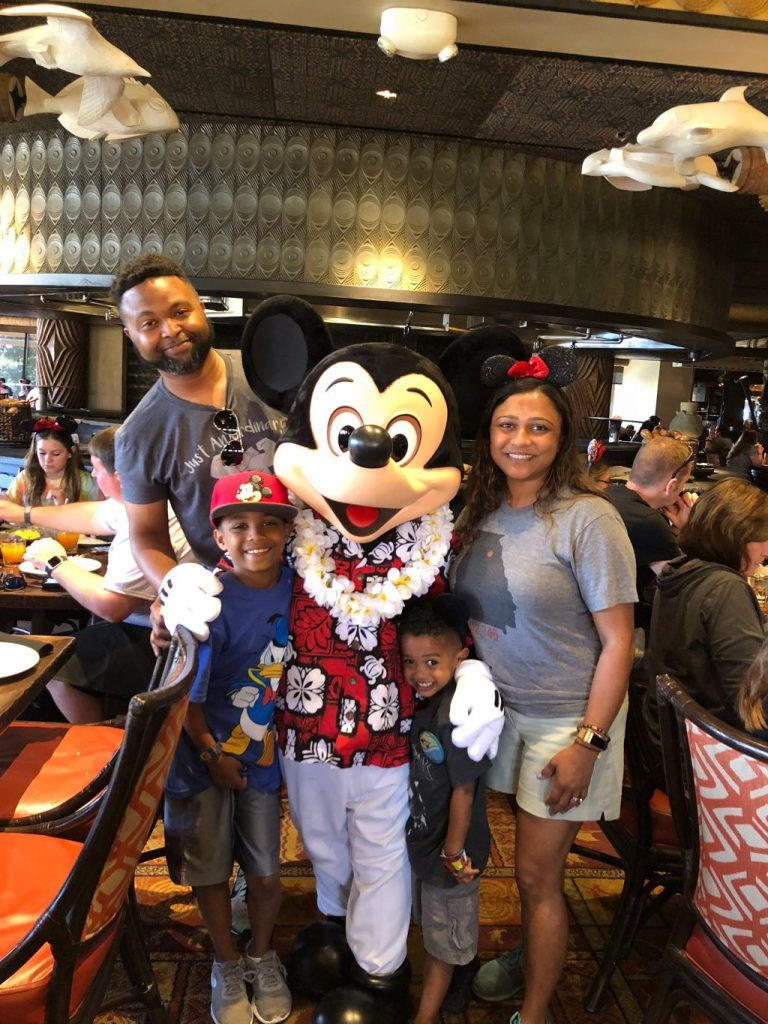 Ohana Mickey with the Cole Family
