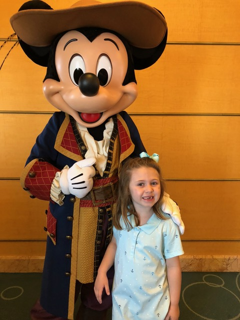Pirate Mickey with the Shirley Family