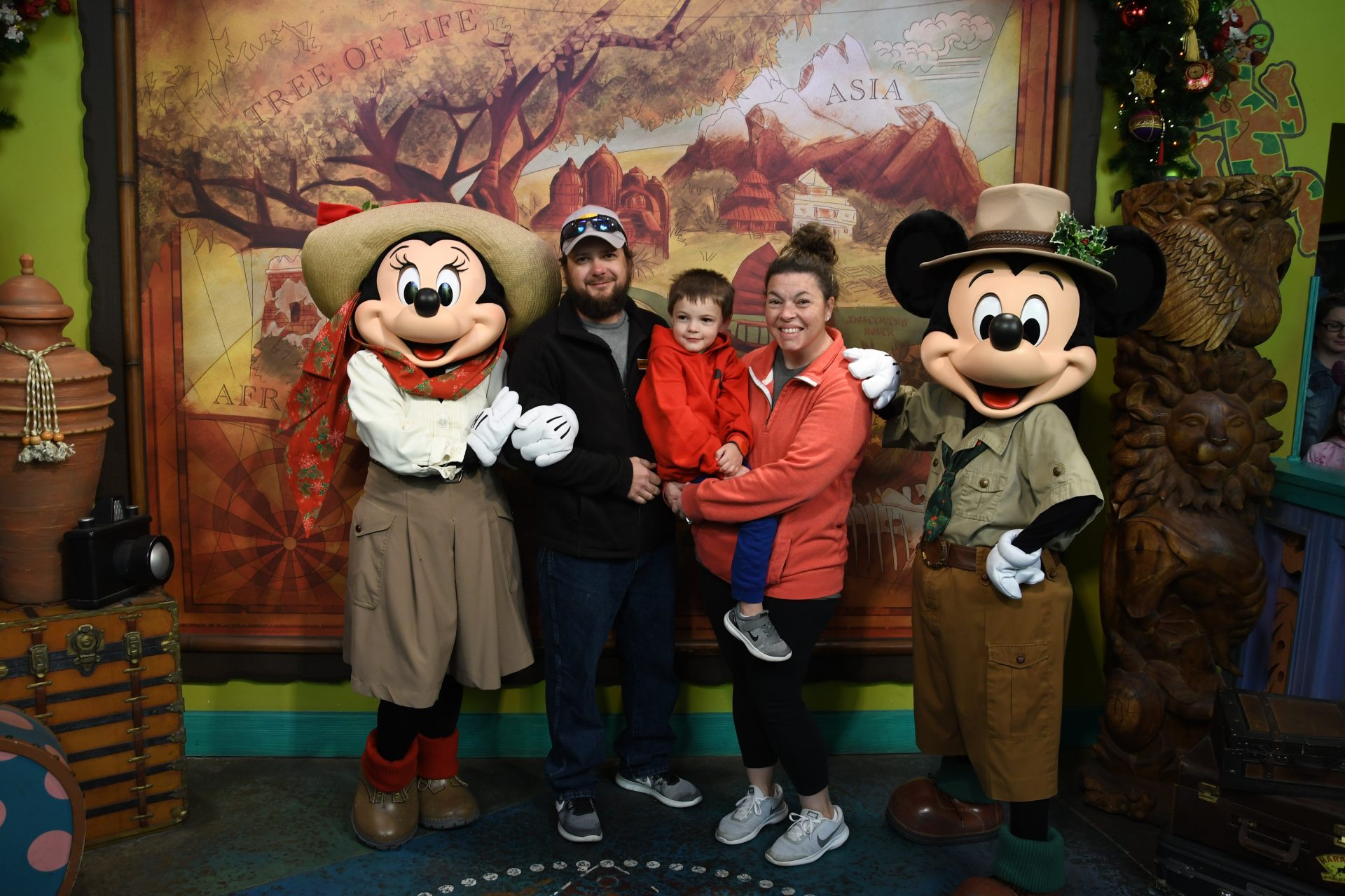 Safari Mickey (holiday edition) with The Kauffman Family