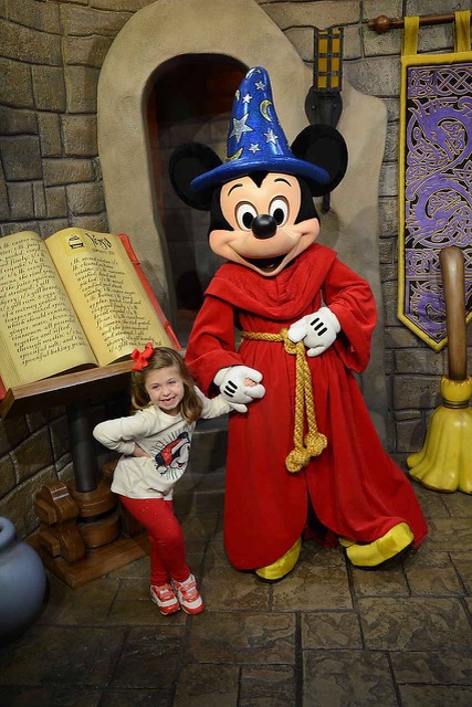 Sorcerer Mickey with the Shirley Family