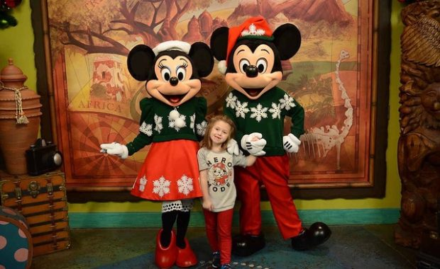 Winter Snowflake Sweater Mickey with The Shirley Family