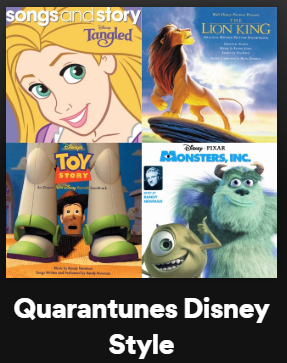 Album Covers including Toy Story, Lion King and Monsters Inc