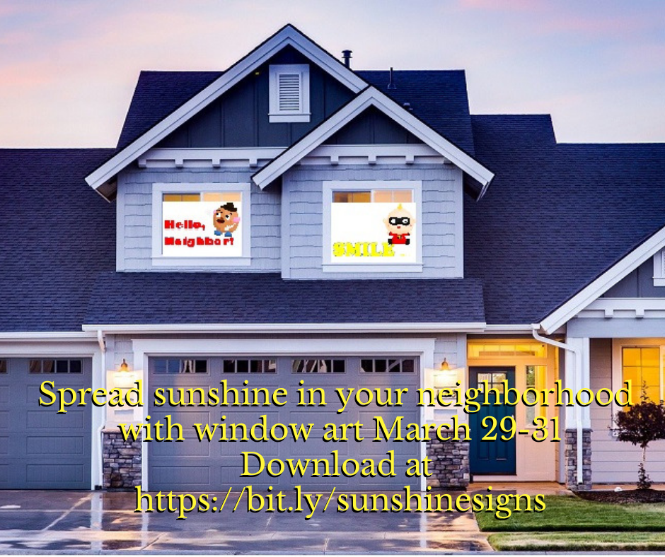 House with spread sunshine signs