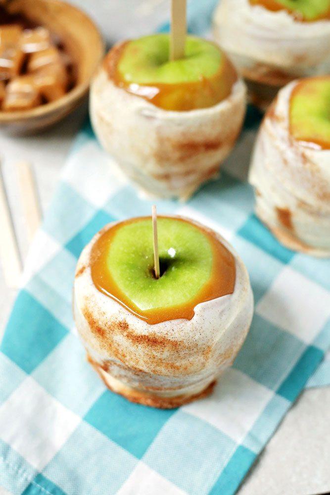 Apple Pie covered Caramel Apple Disney Copycat Recipes