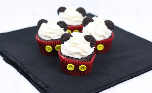 Mickey Mouse Hot Cocoa Cupcakes
