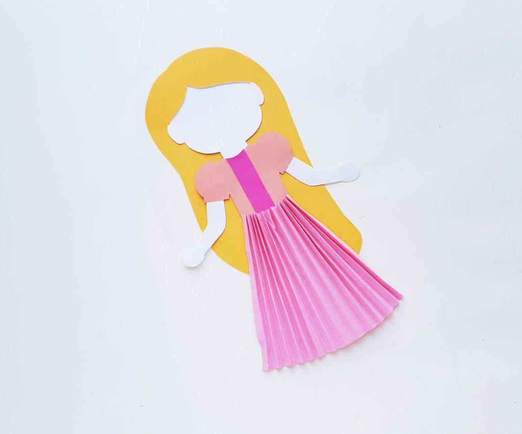 Princess Rapunzel Paper Doll Craft