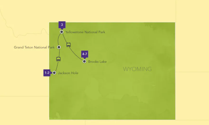 Wyoming Adventure locations