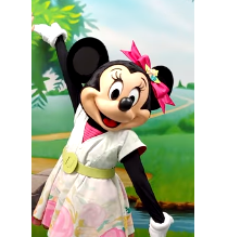 Minnie Mouse in Dress with Flowers